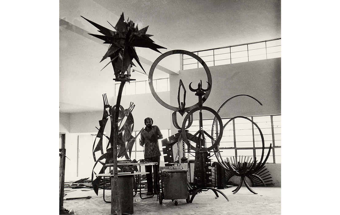 Mild steel studio, 1975